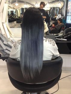 Black And Silver Ombre Hair