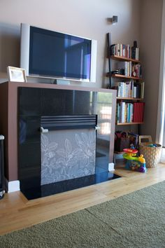 Mama Uses Needles: Fireplace Baby-proofed in Style...