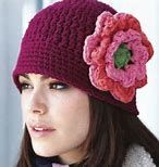 Image result for Free Crochet Cloche Hat Pattern with Flower