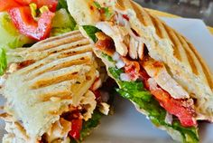 Southwest Chicken Pannini with Chipotle Mayonnaise