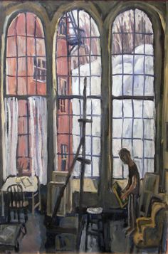 Studio windows. Thor Wickstrom is an artist who lives and works in the Berkshires of Western Massachusetts.