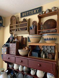 Country Wall Decor, Prim Decor, Rustic Decor, Farmhouse Decor, Primitive Decor, Shabby Chic Kitchen, Home Decor Kitchen, Vintage Kitchen, Kitchen Pics