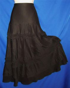 """Found in my store... http://stores.ebay.com/My-Evergreen-Closet White House / Black Market Tiered Bohemian Peasant Gypsy Hippie Boho Broomstick Boot Skirt  M  28"""" waist #WhiteHouseBlackMarket #PeasantBoho"""