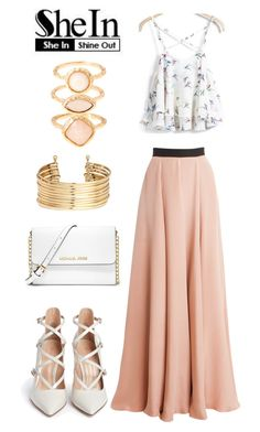 """""""rint Cami Top - Shein.com Contest"""" by fashionnailart ❤ liked on Polyvore featuring Roksanda, Gianvito Rossi, MICHAEL Michael Kors, H&M and Monsoon"""