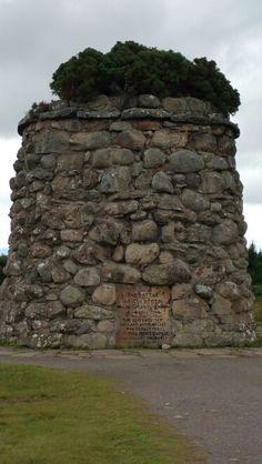 Monument at Culloden Battlefield, Scotland, UK August 2015