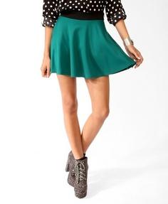 Contrast Waist Skater Skirt | FOREVER 21 - 2025101135