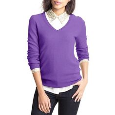 "ANN TAYLOR 100% Cashmere Purple V Neck Sweater Excellent condition. This purple cashmere sweater from Ann Taylor features a v-neckline. Made of 100% Cashmere. Measures: Bust: 37"", Total Length: 24"", Sleeves: 24"" Ann Taylor Sweaters V-Necks"