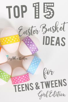 Teenagers LOVE to recieve Easter Baskets as much as any other kid. However, Easter Basket Ideas that'll excite your teenage girl are a LITTLE different than those that a toddler hopes to find. These 15 gifts will get ANY tween girl excited to find her Easter Basket. #easter #teenagegirl