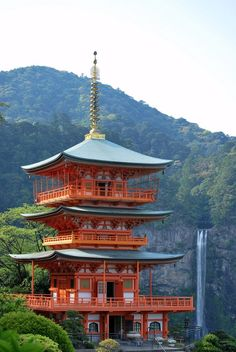 Good Triple tower u Nachi falls Wakayama Japan Beautiful Places Photography