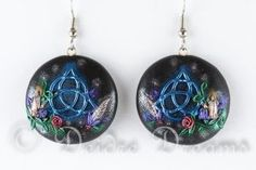 Hear Now The Words Of The Witches Earrings by DeidreDreams