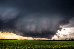 Wall cloud late last summer near Oklahoma, Kansas border.