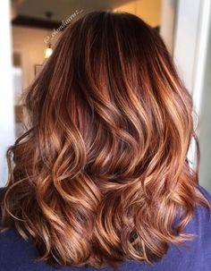 Balayage cuivré cheveux chatains - Balayage cuivré : le reflet chaud à adopter cette saison - Elle