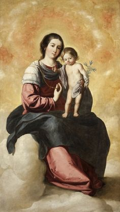 Francisco de Zurbarán. Virgen del Rosario. Hacia 1650.