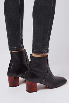 MISTIC Leather Ankle Boots
