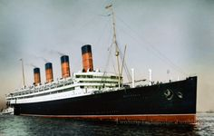 Cunard Line AQUITANIA as introduced 1914, fully colorized