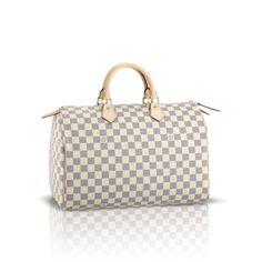 8dece20e143f Louis Vuitton N41535 Damier Azur Canvas Speedy 35 – Azur Louis Vuitton  Speedy 35