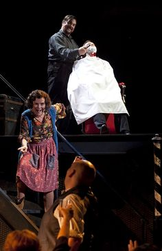 Michael Ball as Sweeney Todd, Imelda Staunton as Mrs Lovett. Both fantastic!