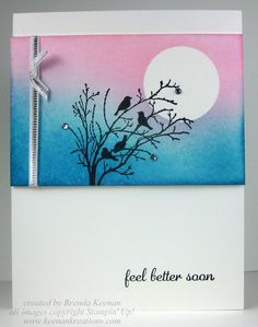 How to create a sponged background for cards* Pinned from Keenan Kreations blog
