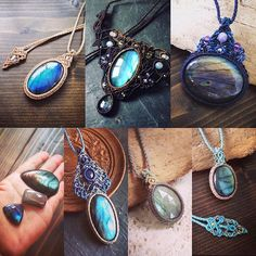 ラブラドライトマクラメコレクション。  #MacrameJewelryMANO  #macrame #マクラメ #handwork #handmade #bohemian #hippie #gypsy #ethnic #tribal #naturalstone #gemstone #stone #天然石 #accessories #choker #necklace #pendant #ラブラドライト #labradorite #blue #green #collection