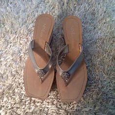 Summer ❤️ Wedges by Nine & Co. Sz 91/2 by Nine & Co. ❤️31/2 in. heel❤️NEWtrades❤️ please use offer button via all offers❤️. Nine & Co. Shoes Wedges
