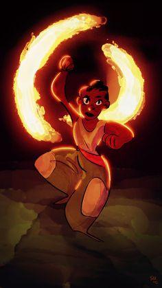 Fire dancer. #art by me