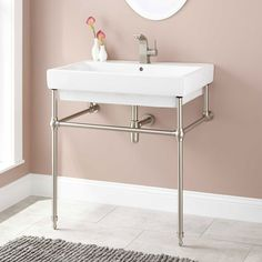 Abril+Console+Sink+with+Brass+Stand