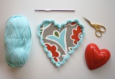 One Sheepish Girl | Adding a Crochet Edge to Paper – Valentines & Frames