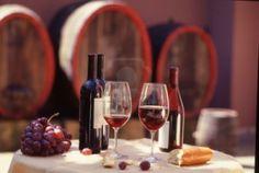 Red wine barrel with still.Wine tasting.