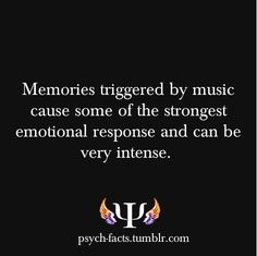 That why we love music. It's all nostalgia. Even people with dementia/Alzheimers find comfort in music that brings them nostalgia, that makes them remember.