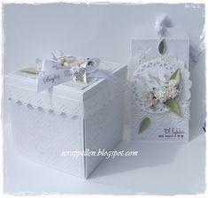 ScrappEllen: DT Cartes & Bien-nouveaux et beaux textes à un gâteau de mariage dans une boîte avec tag ♥