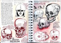 skull drawings gcse - Google Search Kunstjournal Inspiration, Sketchbook Inspiration, Sketchbook Ideas, Kunst Portfolio, Artist Research Page, Gcse Art Sketchbook, A Level Art Sketchbook Layout, Art Alevel, Anatomy Art