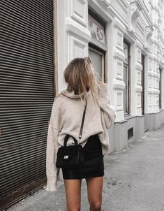 winter style outfit sweater