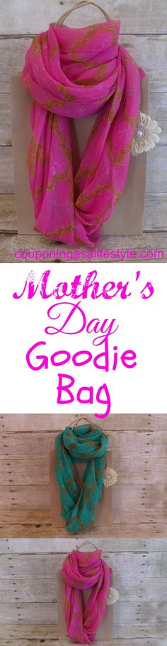 Adorable easy Mother's Day goodie bag to make sure your sweet gifts take center stage.  Treat Mom to the very best!