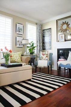 black bedroom rug. A New Living Room Rug: Stripes For The Win Black Bedroom Rug
