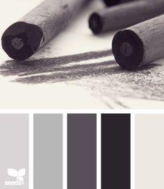charcoal tones