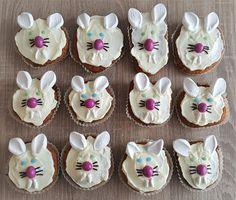 Leckere Hasenmuffins zu Ostern #muffins #cupcakes #hasen #ostern