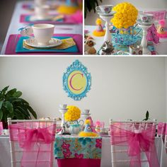 TEA Party with Baby DOLLS and Tutus Birthday by ShopAndersRuff, $49.00