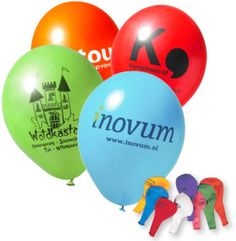 Ballonnen met opdruk - Origineel promotiemateriaal tijdens Zomercarnaval