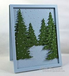 KC Memory Box Cascade Evergreen Frame 1 left