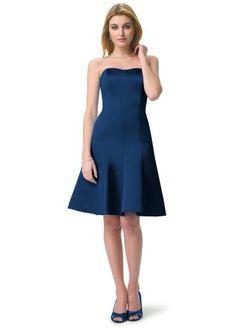 Amazon.com: David's Bridal Bridesmaid Dresses Satin Dress with Sweetheart Neckline Style 83259: Clothing
