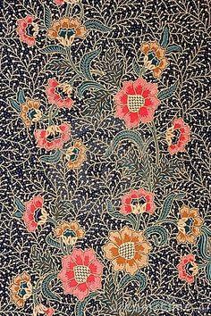 Image of Indonesian batik sarong pattern. Free art print of Indonesian Batik Sarong. Pretty Patterns, Beautiful Patterns, Color Patterns, Floral Patterns, Floral Designs, Surface Pattern, Pattern Art, Pattern Design, Surface Design