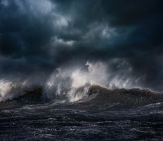 bobbycaputo: Breathtaking Photos of Ocean Waves on a Stormy Evening in Montauk by Dalton Portella Storm Photography, Landscape Photography, Nature Photography, Scenic Photography, Landscape Photos, Stürmische See, Photo Ocean, Ocean Storm, Architecture Art Design