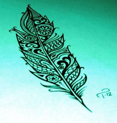 Pretty leaf ink art