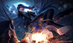 Fan art of Bayonetta Personal work Character Art, Character Design, Witch Art, Female Characters, Fictional Characters, Cartoon Games, Lets Dance, Ancient Symbols, Fighting Games