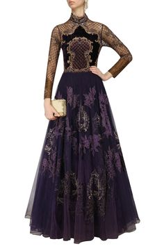 This voilet Indo Western gown is on available on a special price for a limited period. To grab this please follow the link