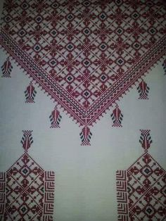Palestinian Embroidery, Crossstitch, Crochet, Blouse Designs, Cross Stitch Patterns, Tatting, Embroidery Designs, Diy And Crafts, Stitches