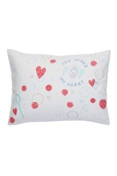 This lovely pillow will add a little pop of color to your holiday decor.