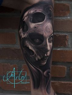 Badass skull morph... #ArloDiCristina
