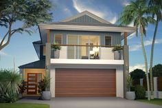 Jindalee 242 - Award, Home Designs in Fraser Coast/Bundaberg Double Storey House Plans, Double Story House, Two Storey House, Home Design, House Plans Australia, Coastal House Plans, Facade House, House Facades, Display Homes