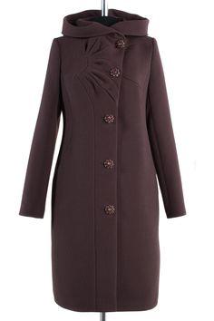Пальто женское демисезонное Кашемир Шоколад